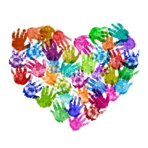 toddler hands heart